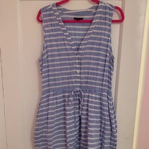 Striped blue dress with buttons